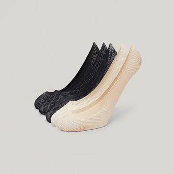 Set of 5 - Textured Fishnet No Show Socks
