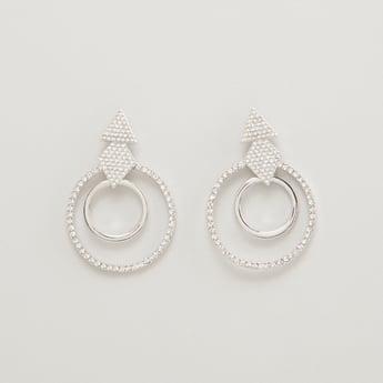 Stone Studded Dangler Earrings