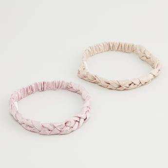 Set of 2 - Braided Hair Bands with Prints