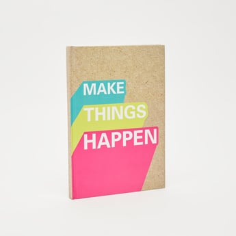 Typographic Print Single Ruled Notebook