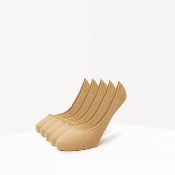 Set of 5 - Textured No Show Socks with Elasticised Hem
