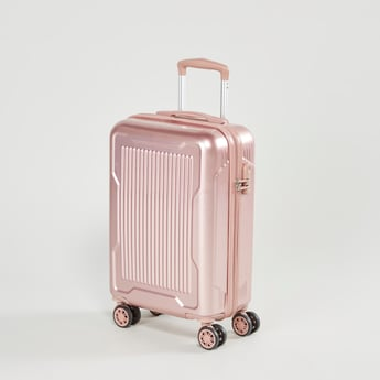 Textured Hard Case Trolley Bag with Swivel Wheels - 22x57x37 cms