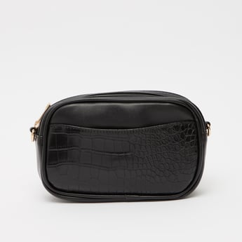 Textured Fanny Pack with Pin Buckle