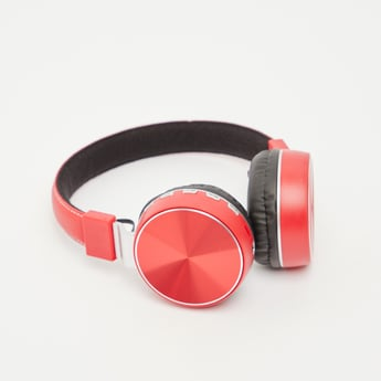 Glossy Over-Ear Bluetooth Headphones with USB Cable