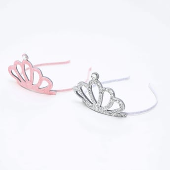 Set of 2 - Textured Crown Hairband