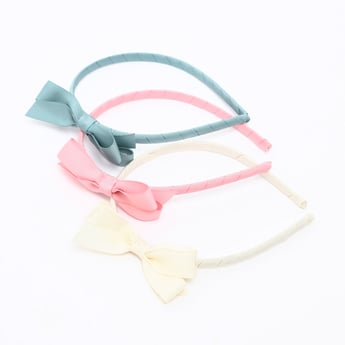 Set of 3 - Hair Bands with Bow Applique