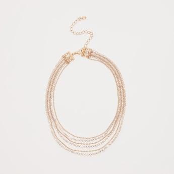 Studded Layered Choker Necklace