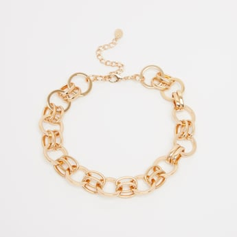 Metallic Choker with Lobster Clasp