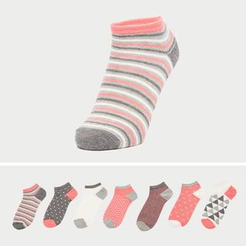 Set of 7 - Printed Ankle Socks