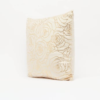 وسادة محشوة بطبعات أزهار- 45x45 سم