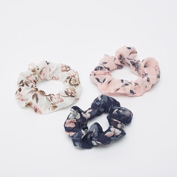 Set of 3 - Floral Print Elasticated Round Bands