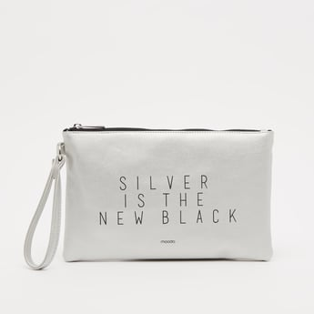 Printed Pouch with Zip Closure and Wristlet