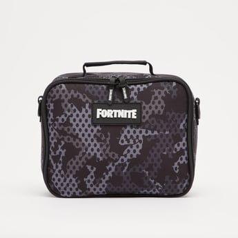 Fortnite Print Lunch Bag with Adjustable Strap and Zip Closure