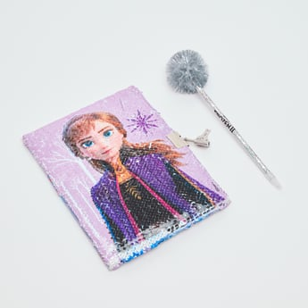 Disney Frozen II Secret Glitter Notebook with Pen