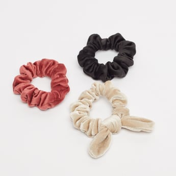 Set of 3 - Textured Scrunchies