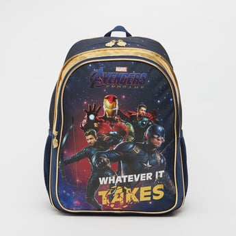 Avengers Print Backpack with Adjustable Shoulder Straps - 16 Inches