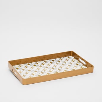 Printed Serving Tray with Cutout Handles
