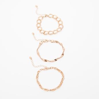 Set of 3 - Embellished Bracelet with Lobster Clasp