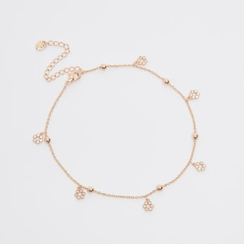 Stud Detail Anklet with Lobster Clasp