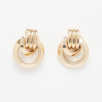 Metallic Dangling Earrings with Lobster Clasp