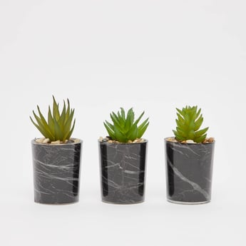 Set of 3 - Artificial Potted Plant
