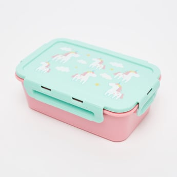 Unicorn Print Lunch Box - 1100 ml