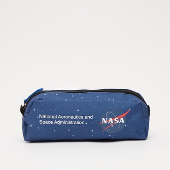 NASA Printed Pencil Case with Zip Closure