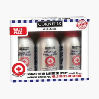 CORNELLS Wellness 3-Piece Instant Hand Sanitizer Spray - 100 ml