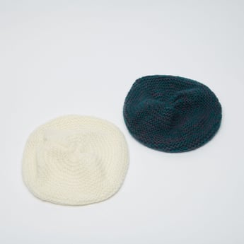 Set of 2 - Textured Woolen Beret