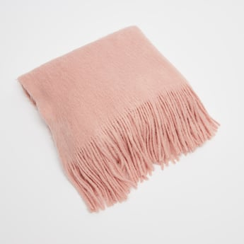 Textured Scarf with Tassels