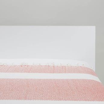 بطانية سرير خفيفة بارزة الملمس بشراشيب - 152x127 سم