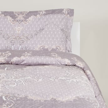 2-Piece Printed Single Size Comforter Set - 220x160 cms