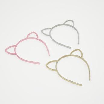 Set of 3 - Glitter Textured Hairband