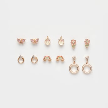 Set of 6 - Assorted Earrings with Pushback Closure