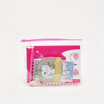 Printed 3-Piece Stationery Set with Pouch