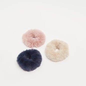 ربطات شعر مطاطية بارزة الملمس- طقم من 3 قطع