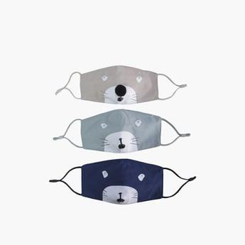 قناع وجه نسيجي مضاد للغبار قابل لإعادة الاستخدام - طقم من 3 قطع