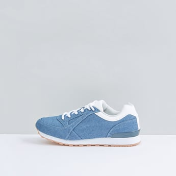 Denim Lace-Up Sports Shoes