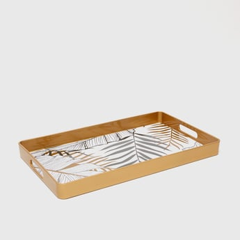 Printed Serving Tray with Cutout Handles- 45.5x31x4 cms