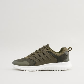 Textured Lace-Up Trainers