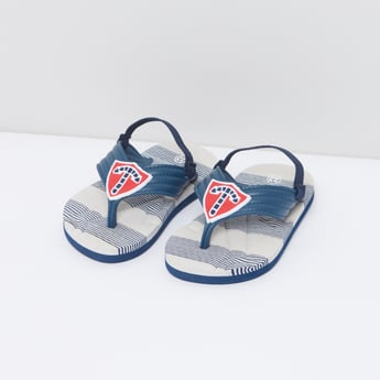 Striped Flip Flops with Back Strap