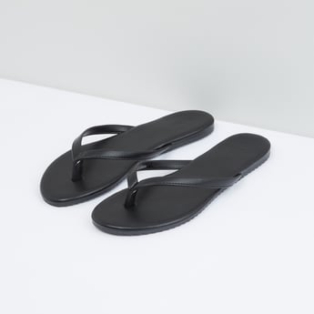 Stitch Detail Flat Slip-On Sandal