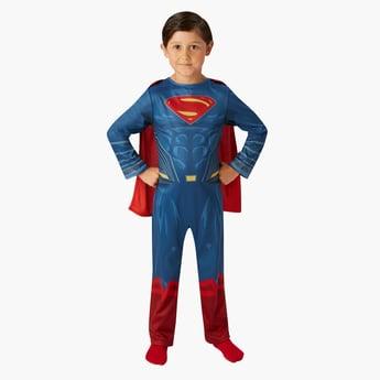 Superman Print Classic Jumpsuit with Cape