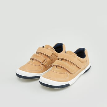 Low Top Slip On Sneakers with Dual Straps