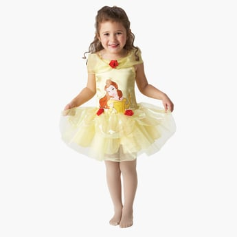 Belle Ballerina Costume Dress with Flower Applique Detail
