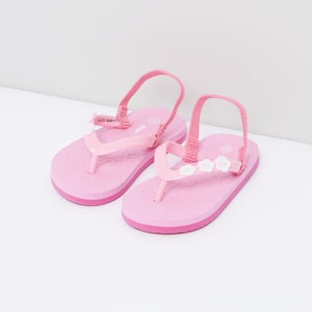 Textured Flip Flops with Elasticised Backstrap