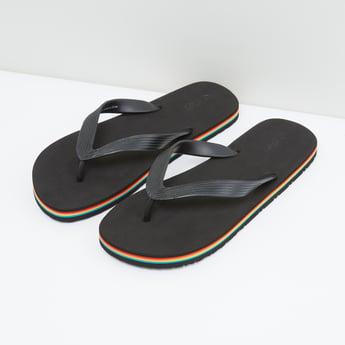 Flip Flops with Textured Straps