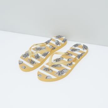 Printed Slip-On Flip Flops