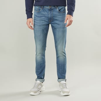Slim Fit Jeans with Pocket Detail