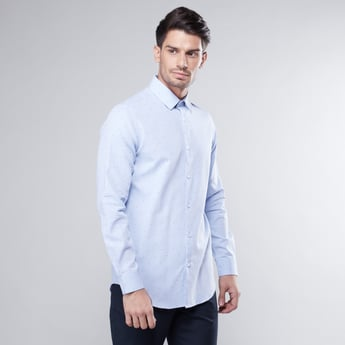 Slim Fit Printed Shirt with Long Sleeves